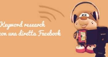 Keyword research con una diretta Facebook