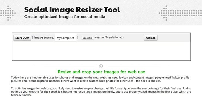 social image resizer tool online ridimensionare foto