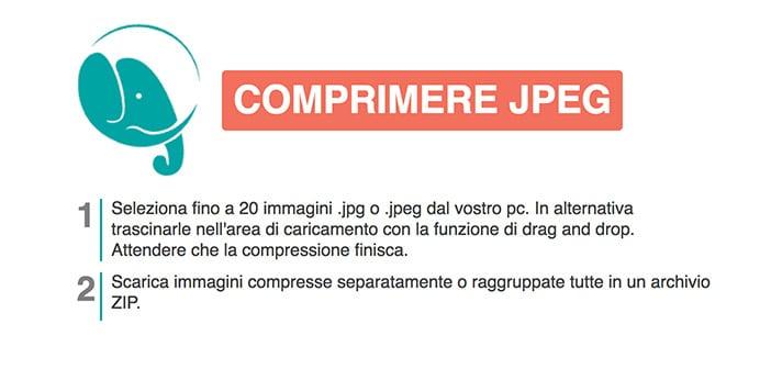 compressjpeg tool online ridimensionare foto