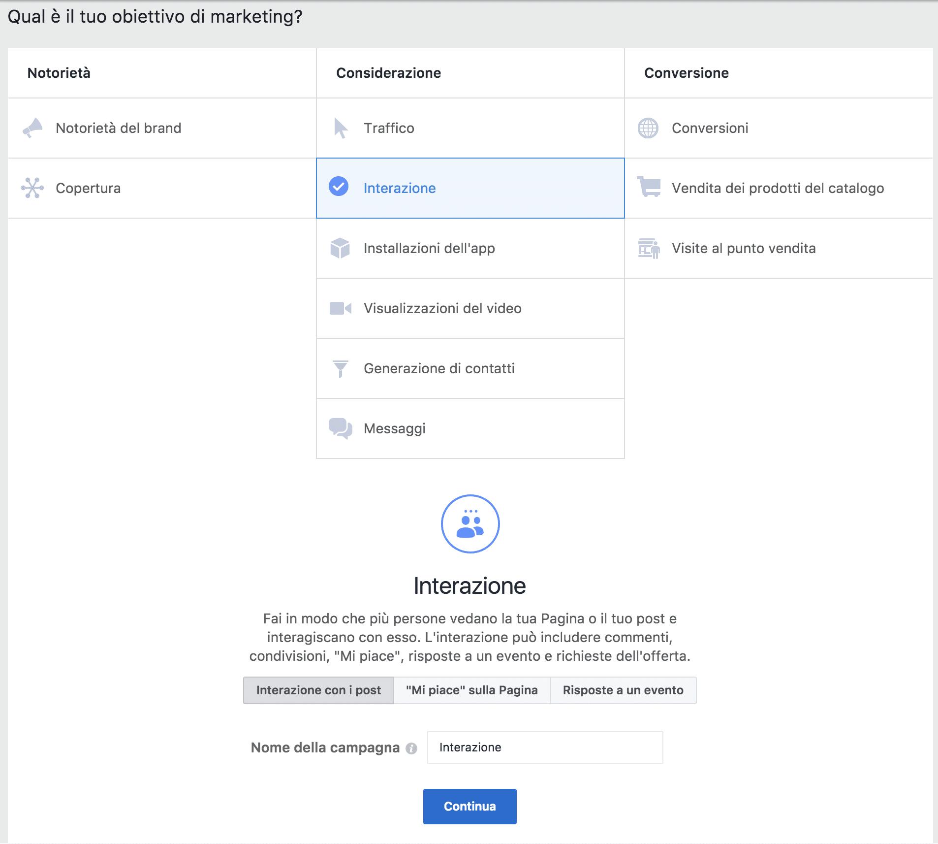 facebook ads interazione post