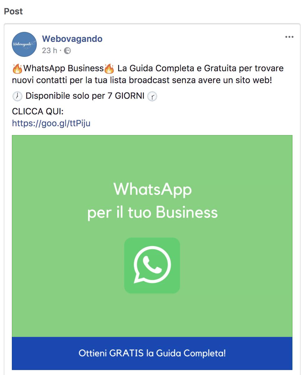 Post per Facebook Ads