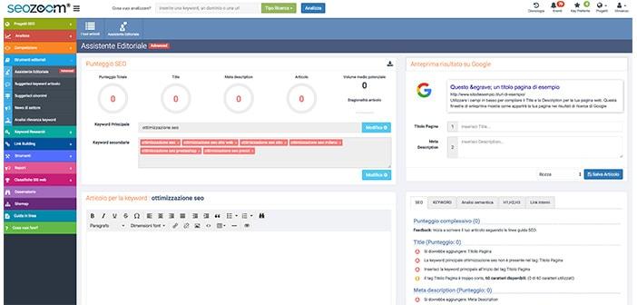 strumenti editoriali con seozoom