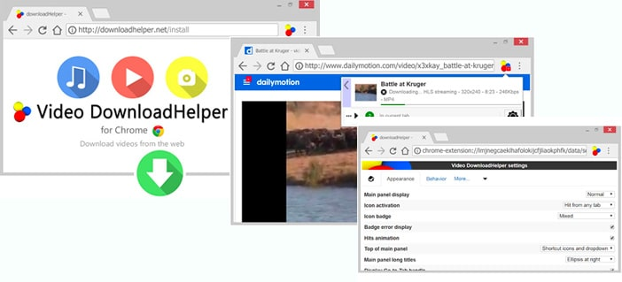 Video DownloadHelper estensione per Google Chrome