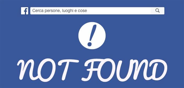 Perchè la mia pagina facebook non compare nel motore di ricerca