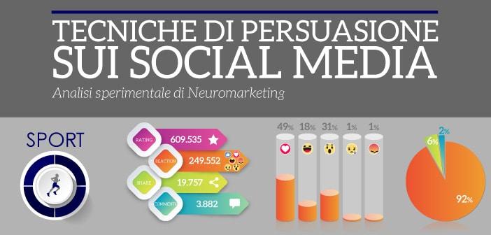 tecniche di persuasione sui social media settore sport