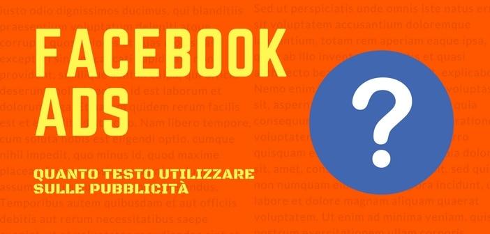facebook ads quanto testo utilizzare