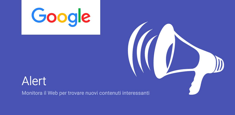 google alert avvisi dal web